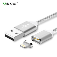 Mantis Magnetic Cable Fast Charging USB Cable for iphone 5 5s 6 6s 7 iPad 2 3 4 1M Nylon Magnet Charger For Mobile Phone Cables