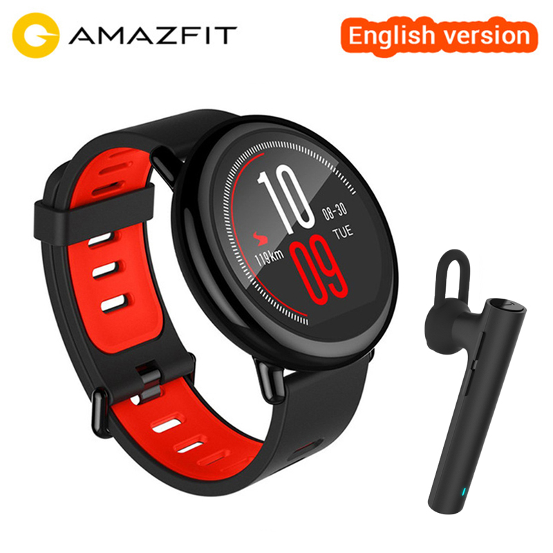 Original Xiaomi Huami Amazfit Pace Sport Smart Watch English Version GPS Running Heart Rate Monitor Smartwatch VS Amazfit Bip