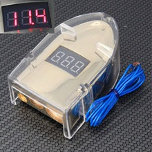 GOLD PLATED LED DISPLAY DIGITAL CAR BATTERY TERMINAL POLE POSITIVE & NEGATIVE 12V DC(China)