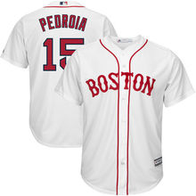 MLB Men's Boston Red Sox Dustin Pedroia Baseball White Home Cool Base Player Jersey -(China)