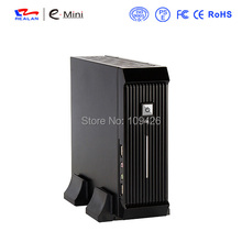 Realan Black Mini ITX HTPC PC Case E 3016 with Power Supply Fan