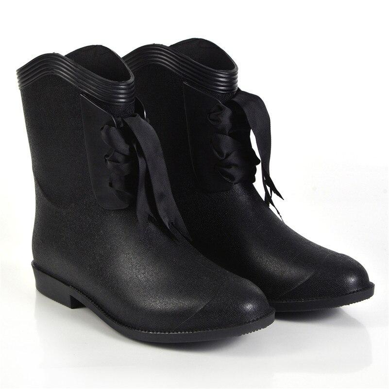Mrs win Brand Designer Women Rain Boots Waterproof Warter Boots for Woman Rain Shoes Lace Up Boots Women Shoes <br><br>Aliexpress