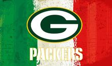 Green white red Stripes Green Bay Packers flags 3ftx5ft Banner 100D Polyester Flag metal Grommets 19512(China)