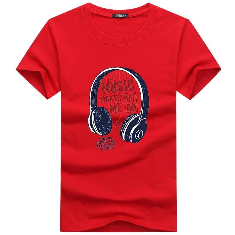 Muška odeća ... Majice ... 32730818597 ... 4 ... RFBEAR Brand 2018 New Fashion Summer T Shirts Men O-Neck Cotton T-Shirt Casual tshirt homme Short Sleeve Men's Clothing White  ...