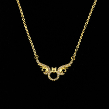 Modern Exquisite Design Maxi Necklace White Zircon 3 Color Chain CZ Demon Wings Choker Necklace For Women Men Charm Boho Jewelry