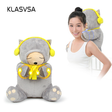 KLASVSA Electronic Therapy Massager Back Neck Shoulder Kneading Massage Health Care Pain Relief Home Electric Muscle Stimulator