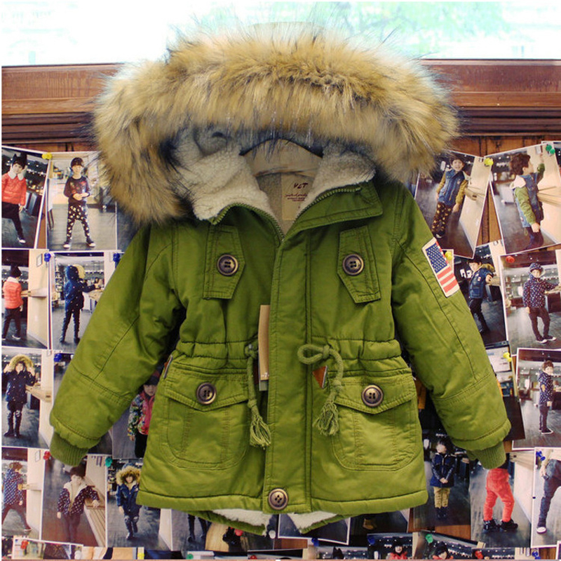 New Brand Parkas For Boys And Girls Coat Fashion Solid Color Childrens Clothing 2017 Winter New Arrivals Kids OuterwearОдежда и ак�е��уары<br><br><br>Aliexpress