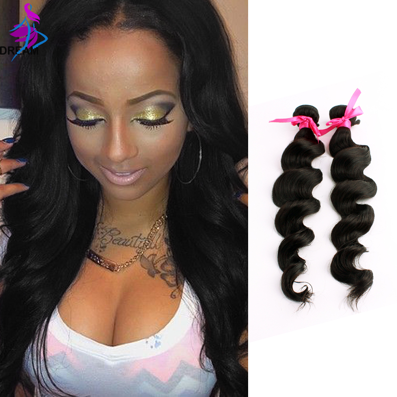 7A 100% Unprocessed natural Black color Hair Products Brazilian Virgin Hair Weave Wavy Remy Hair Weft Human Hair Extensions 2Pcs<br><br>Aliexpress