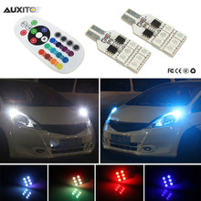 2x RGB T10 LED Car Parking Light Bulb Remote Control For Honda Civic Accord Fit Crv Hrv Jazz City CR-Z Element Insight MDX