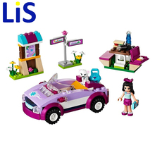 BELA 10154 assemblage building blocks 159p Girl friends series City Emma Sport Car bricks gift Compatible With Lepin S233(China)