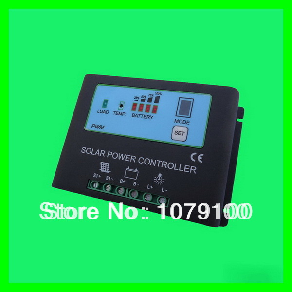 New Style Metal Housing Automatic Identification Power Display 12V/24V 25A solar charger 12v<br><br>Aliexpress