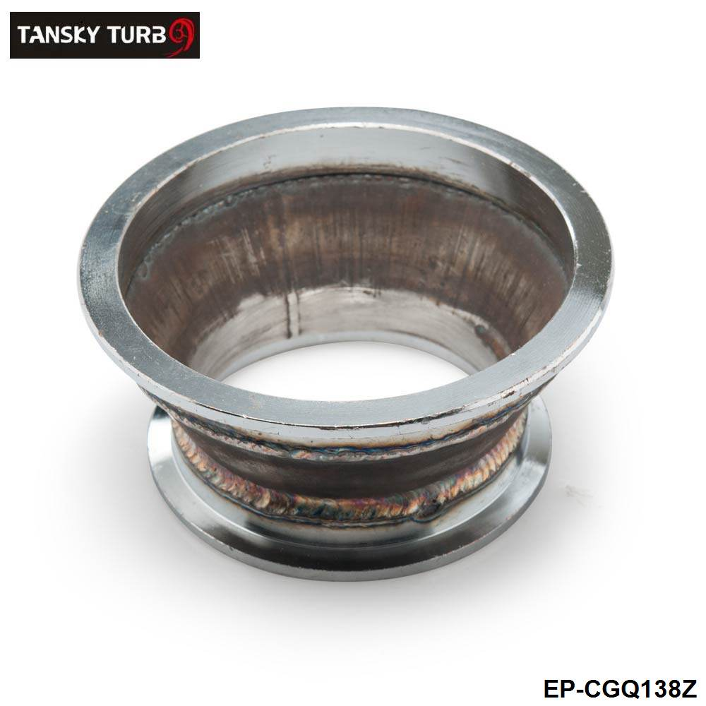 """TANSKY - Adapter fit 4"""" to 3"""" V-Band Flange For Turbo Charger Elbow Downpipe Manifold EP-CGQ138Z"""