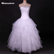 2017 Real Photos Ball Gown Sweetheart Ruffles Beautiful Wedding Dress New Floor Length Bridal Gown Robe De Mariage