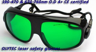 laser safety goggle 190-470nm&amp;610-760nm O.D 4+  CE certified more big lens and frame<br>