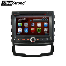 "Free shipping 7"" 2 DIN SSANGYONG KORANDO NEW ACTYON 2010 2011 2012 2013 Car Radio Audio DVD Player With GPS Free map with BT USB"