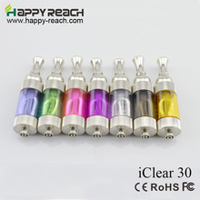 leiqidudu Iclear30 High quality iclear 30 ic30 clearomizer e cigarette dual coil e cig atomizer cartomizer VS iclear 16 30s(China)