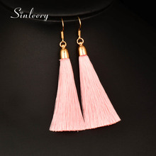 SINLEERY Vintage Handmade 5 Color Soft Silk Long Tassel Earrings 2017 Bohemian Boho Ethnic Jewelry for Women Gifts ES100 SSE(China)