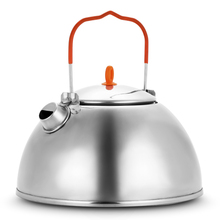 Free Shipping BRS-TS07 1.1L Outdoor Kettle Stainless Steel Tea Pot Camping Hiking Kettle Portable Cookware Picnic Water Kettle