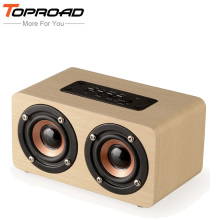 TOPROAD Wireless Bluetooth Speaker Wood Portable Audio HiFi Home Theatre Sound Receiver Stereo Music Subwoofer Computer Speakers(China)