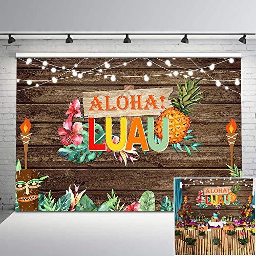 Hawaiian Luau Photo Backdrop set Back Drop Set fnt