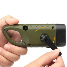 1 PC Mini Rechargeable Hand Crank Led Flashlights Solar Flashlight Battery Camping Light High Quality Portable Work Light