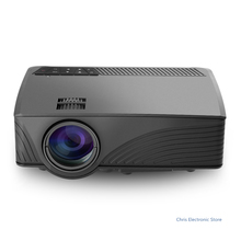 GP - 12 LED 3D Projector 2000LM 1080P Full HD Home Cinema Media Player Built-in Speaker Support 3.5mm Audio HDMI SD Card USB