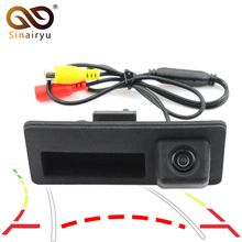 Sinairyu Car Trunk Handle Rear View HD Camera for Audi A4 A5 S5 Q3 Q5 VW Tiguan with Trajectory Guide Line(China)