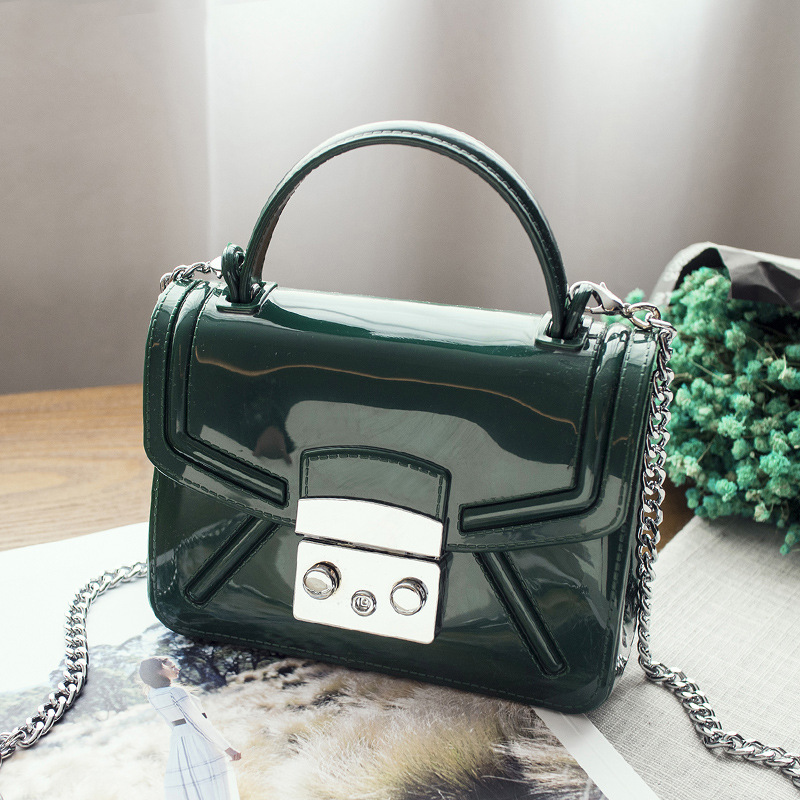 2018 Hot Sale Women Silicone Candy Color Handbags Small Chain Messenger Bag Crossbody Shoulder Bags Jelly Bag<br>