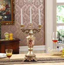 European resin Candlestick, wedding gifts, decorate the living room Home Furnishing candlestick