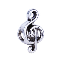 2016 New Wholesale Music Symbol Beads Charms European Silver DIY Bead Fit Pandora BIAGI Bracelets & Bangles Women Jewelry(China)