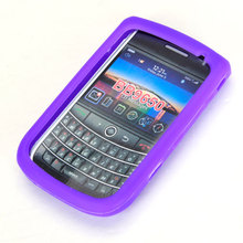Silicone Case Cover for BlackBerry Bold 9650 Purple(China)