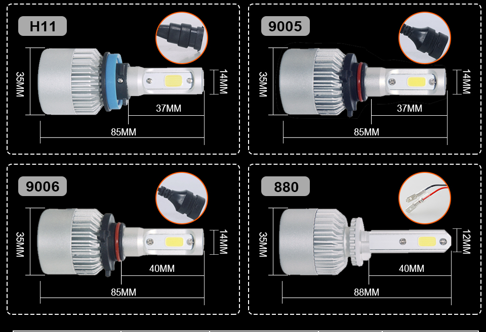 S2 H4 H7 LED CAR HEADLIGHT_10