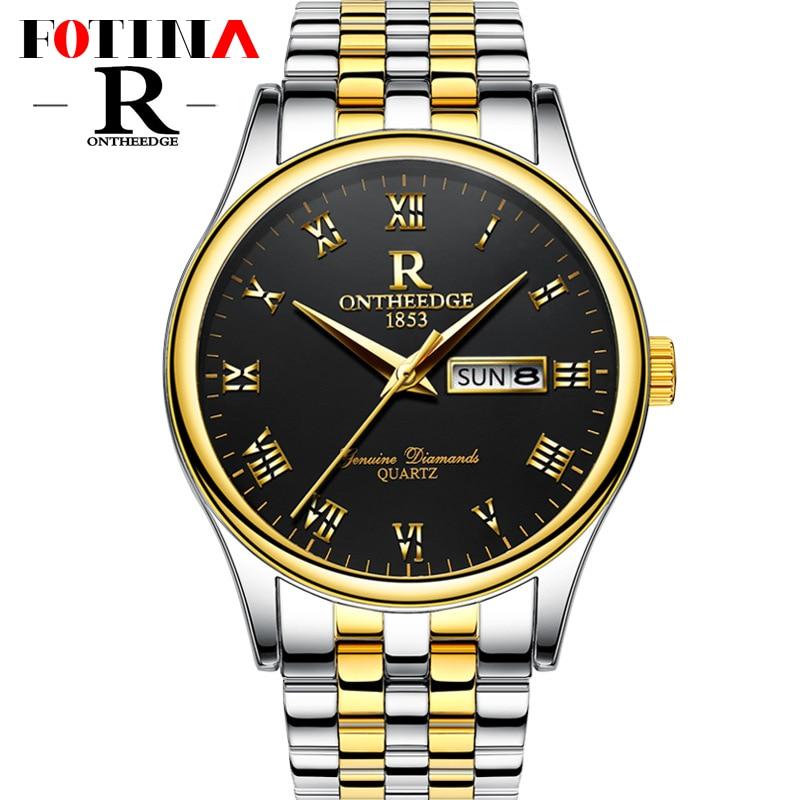 Fotina Top Brand R Watch Men Full Stainless Steel Classic Casual Business Watch Men Sport Day Date Watch Clock Relogio Masculino<br><br>Aliexpress