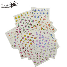 48pcs/lot Water Transfer Flower Beauty Design for Watermark Tattoos Nail Art Stickers Decals Polish Gel Wraps TRA001-048