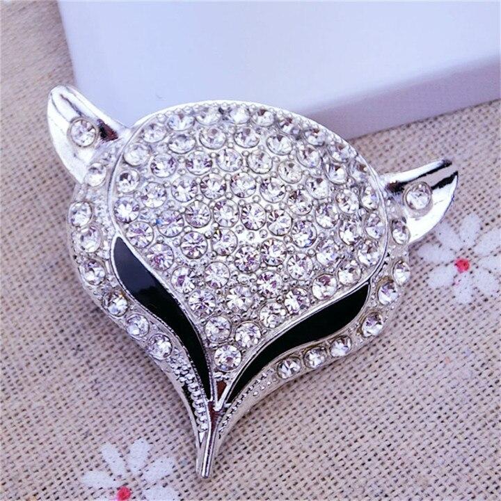 8  Fox Headed Rhinestone Jewelry Findings Alloy Handmade Craft For Bracelet Necklace Jewelry Making Decor Diy Accessories
