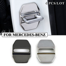 Car-Styling Stainless Steel JDM Car Door Lock Cover Case For MERCEDES BENZ W211 AMG W204 W210 W203 Cla Accessories Car Styling