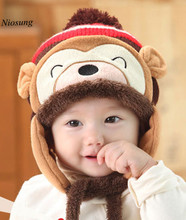 Niosung Fashion Winter Warm Kid Baby Girl Boy Ear Thick Knit Beanie Cap Hat Child Beanies Accessories For 5 Months To 5 Y v