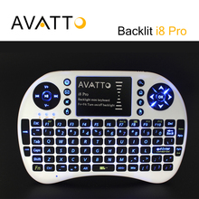 [AVATTO] High-End Backlit i8 PRO Wireless Gaming Mini Keyboard 2.4G Touchpad Backlight Air Mouse for PC Smart tv PS3 Xbox TV Box