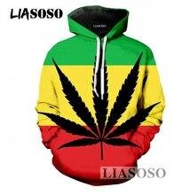 LIASOSO Men/Women Pullover Hoodies 3D Print Smoke Weed Hooded Tracksuit Crew Neck Long Sleeve Sweatshirts Clothing DropShipping
