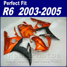 Hot sale motorcycle parts for YAMAHA R6 fairing kit 2003 2004 2005 maroon matte black  Fit YZF R6 fairings 03 04 05