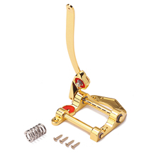 Electric Jazz Guitar Bridge Tremolo System Tailpiece Guitar Chrome Vibrato  Metal Vintage Gold Color Guitar Parts