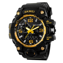 For SKMEI 1155 50M Waterproof Neddle Buckle Men Fashion Casual Sport Watch Camouflage Compas LED Digital Watch Wristwatch(China)