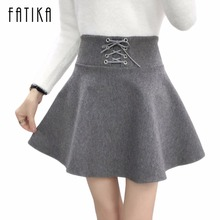 Buy FATIKA New Autumn Winter Women Thick Woollen Skirt High Waist Lace Buttons Pearls Zippers Ball Gown Mini Skirts Female for $10.94 in AliExpress store