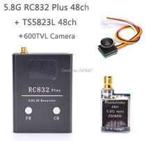FPV 5.8G 48 Channels RC832 plus Receiver TS5823L 5.8G 200mW Mini Wireless AV Audio Transmitter 600TVL 170 degree camera