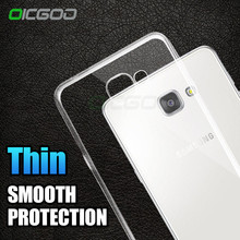 OICGOO Ultra thin Transparent Silicone Case For Samsung Galaxy A5 A3 A7 J5 J7 2016 2017 Cover Case For Samsung A3 A5 A7 Cases(China)