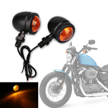 2Pair/4lot Harley motorcycle turn signal Lights Lamp Fit for Harley Bobber Chopper Yamaha Suzuki Kawasaki Dirt Bike Ducati