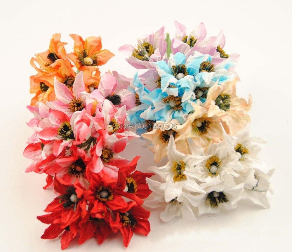 Искусственный шелковицы бумаги Morning glory, реальный сенсорный цветок лилии букет, diy craft украшение для гирлянды, скрапбукинга аксессуары(China)