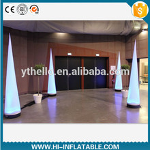 Hot event stage club party decoration led lighted inflatable pillar