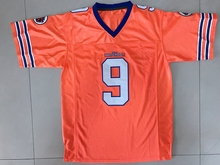 The Waterboy Bobby Boucher #9 American Football Jersey Orange All stitched(China)