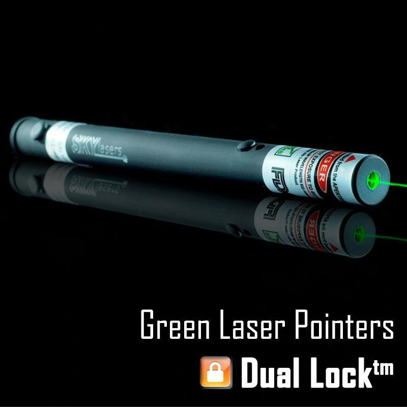 SKYLasers 532nm 5mw High Quality Green Laser Pointer Pen with Dual Lock<br>